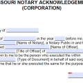 Free Missouri Notary Acknowledgement Forms - PDF - Word